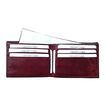 ABYS Genuine Leather Bombay Brown Men Money Clip||Card Holder||Pocket Wallet with 6 Card Slots