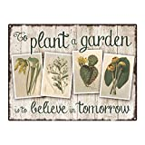 Outdoor To Plant a Garden 12''x16'' Metal Sign, Vintage, Inspirational, Gardening, Guaranteed Not to Fade for 4 Years