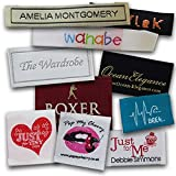 Custom Woven Labels - 100% Woven With Your Logo / Branding. Pre-cut and Folded (1000 Labels, Straight Cut)