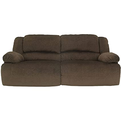 Awesome Ashley Furniture Signature Design   Toletta Manual Recliner Sofa   Dual  Sided   Pull Tab Reclining