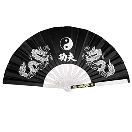 Iron Fan Tessen-Jutsu Training Dragon Black