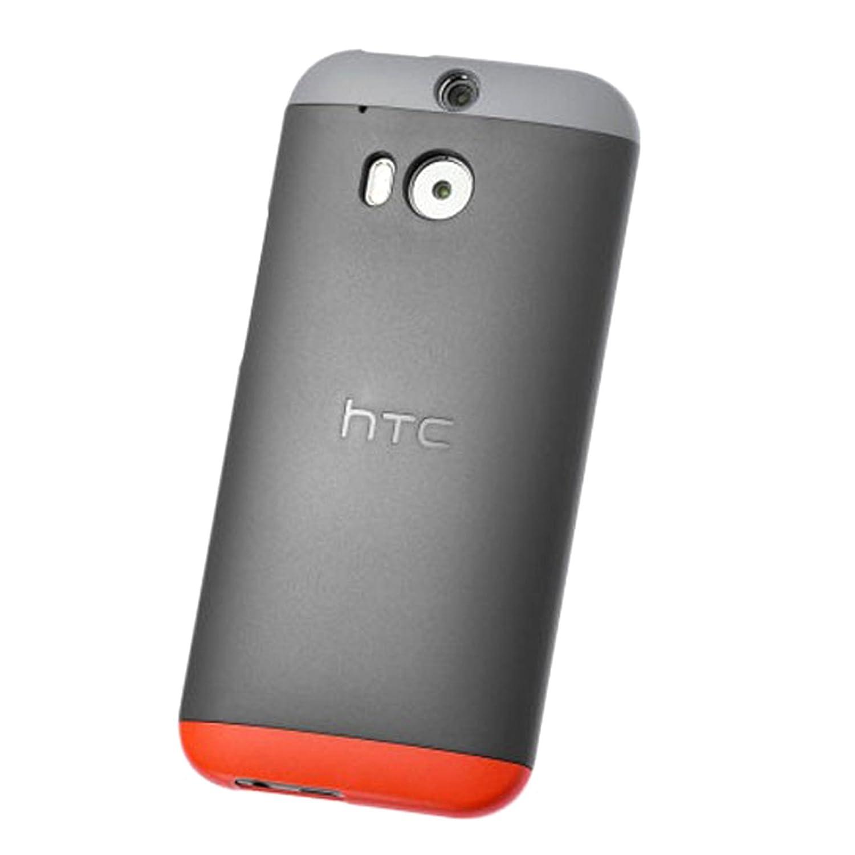 HTC Double Dip Carcasa Rígida con Enganche Trasero para HTC One (M8) - Rojo/Gris Claro/Negro