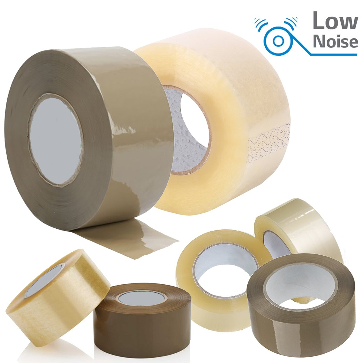Comtechlogic® CM-5098 Low Noise 48MM x 150M Brown/Clear Packaging Tape for Parcels and Boxes. Heavy Duty Brown Box Packing Tape Provides a Strong, Secure and Sticky Seal for Your Boxes (6, Brown) Comtechlogic®