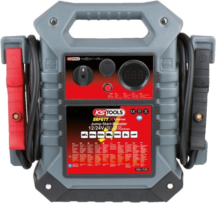 KS Tools 550.1720 Batería de Arranque de 12V + 24V - arrancador portátil de 1400A