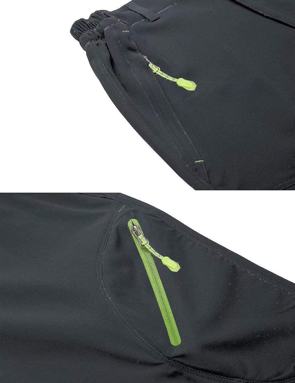 BIYLACLESEN Mens 3//4 Capri Pants Lightweight Quick Dry Hiking Shorts with 4 Zipper Pockets