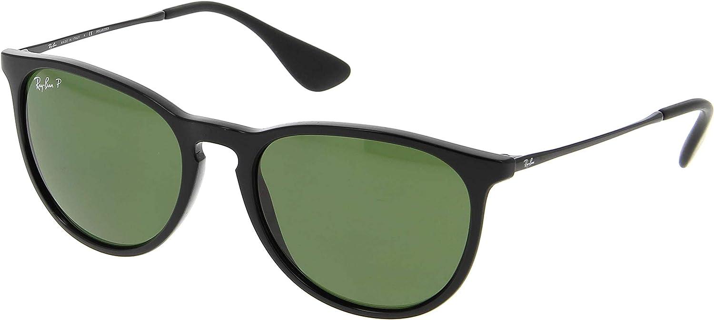 Ray-Ban RB4171 Erika Polarized Sunglasses Shiny Black w/Crystal Green (601/2P) 4171 6012P 54mm Authentic 61l5TJRNn5LUL1500_