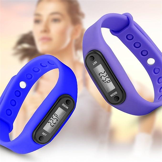 merymall Bracelet Podom/ètre Calorie Counter LCD Marche Distance Run Montre Bracelet