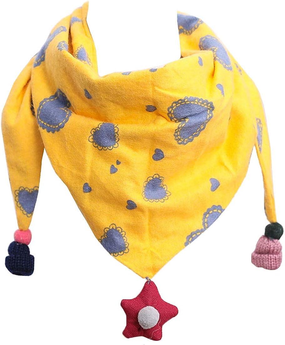 YONKINY Kinder Schals Niedlich Dreieck Schal aus Baumwolle mit Haarball Warmer Halsb/änder Halstuch f/ür Baby M/ädchen