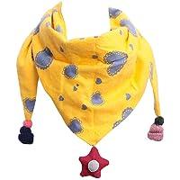 YONKINY Bufanda para Bebé Niñas Otoño Invierno Moda Collar Algodón Suave Cálido Pañuelo de Cuello Triángulo Estampado de…