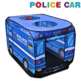 Play Tent with Police Car Design Lavieen Happy Time Play House Kids Play Tent with for Indoor & Outdoor Use Instant Set-Up + Easy Storage