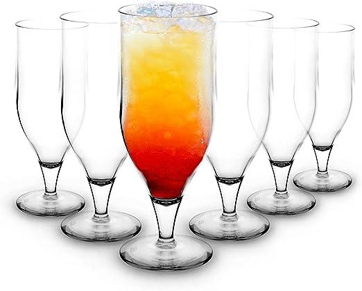 RB Vasos de Cocktail Hurricane Plástico Premium Irrompible ...