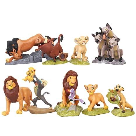ディズニーキャラクター ライオンキング シンバ 子供のおもちゃ ケーキデコレーション 人形 デコレーション ミニ Pvc 9点セット ギフト