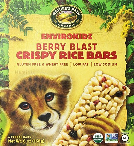 (EnviroKidz, Organic Crispy Rice Cereal Bars, Berry Blast, 6 Bars, 1 oz by EnviroKidz)