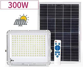 Solar Proyectores Led Exterior, Paneles Solares Focos Rural Luz Jardín Jardín patio Recreo Impermeable Foco Led Solar Exterior (Size : 300W): Amazon.es: Iluminación