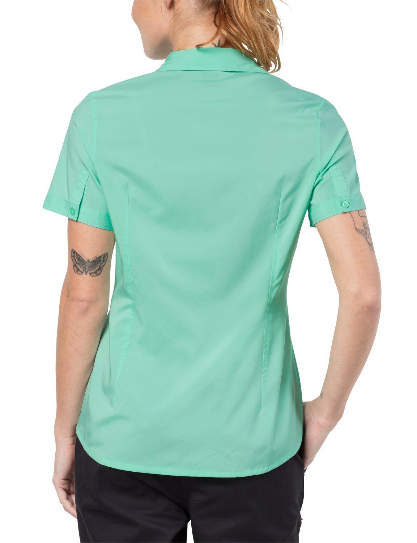 Jack Wolfskin dam blus Jack Wolfskin Sonora Shirt UV-skydd snabbtorkande fritid resa blus Blekmynta