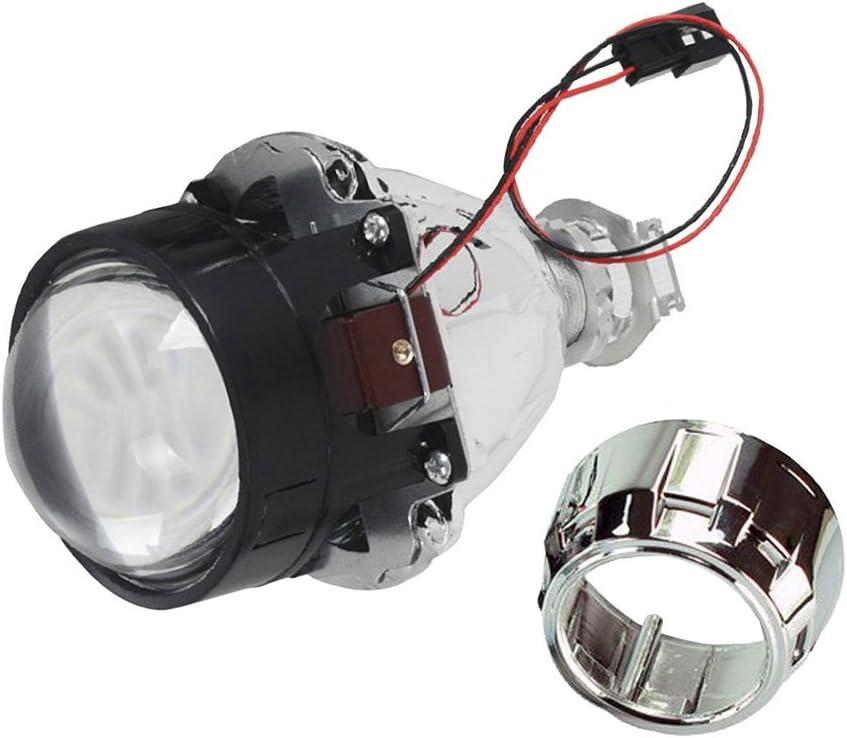 Shsyue/®6,3 cm auto Bi-Xenon fari HID doppio CCFL Angel Eye lampada proiettore kit Lens