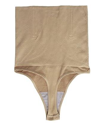 2a0dbc698e7 FLORATA Women High Waist Cincher Girdle Tummy Slimmer Sexy Thong Panty  Shapewear at Amazon Women s Clothing store