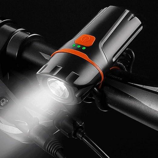 ENticerowts - Linterna Frontal para Bicicleta (luz LED, Resistente ...