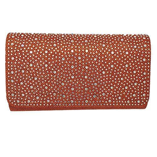 Diva à Femmes Haute Rouge Main Orange Sac pour Small Diamant PHCxRqn5