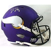 $365 » Justin Jefferson Signed Minnesota Vikings F/S Speed Helmet-Beckett W Auth *White - Autographed NFL Helmets