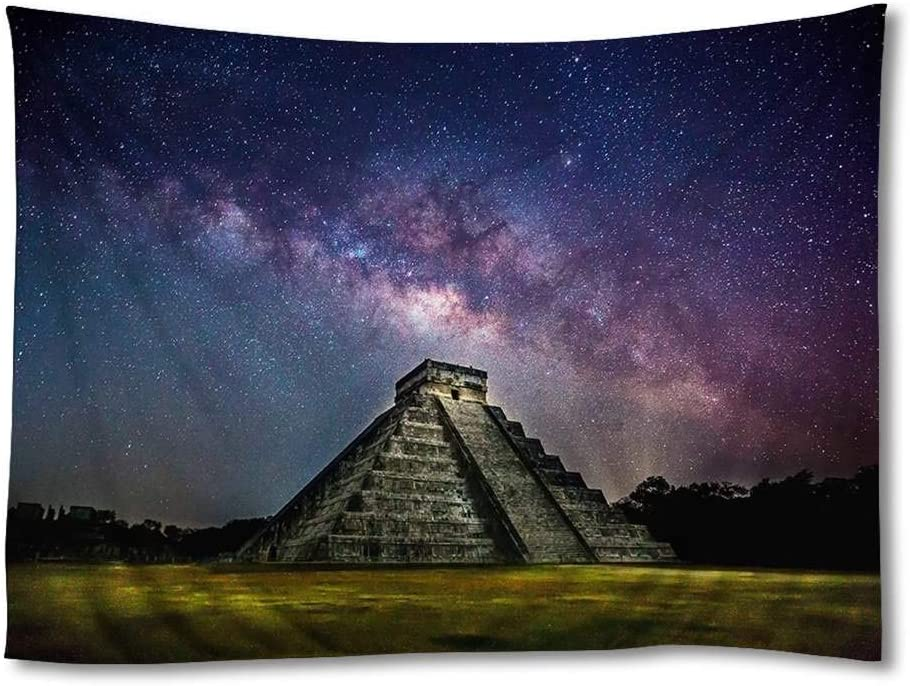 FHYGJD Chichen Itza Mexico Art Print Tapestries,Home Wall Decor Tapestry(30x45 inch)