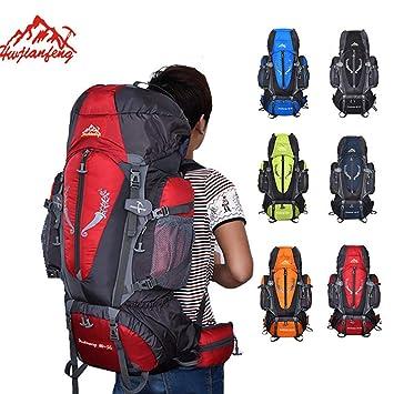 Heligen 85L Nilón Mochila Senderismo Mochila Hombre Impermeable de Trekking Viaje Montaña Acampada Escalada 36 x 20 x 80 CM (Rojo): Amazon.es: Deportes y ...