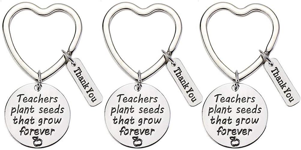 STOBOK 3pcs maestros día apreciación llavero regalos para padre madre amigos gracias cumpleaños navidad acción de gracias llavero regalos para mujeres hombres jubilación graduación presente