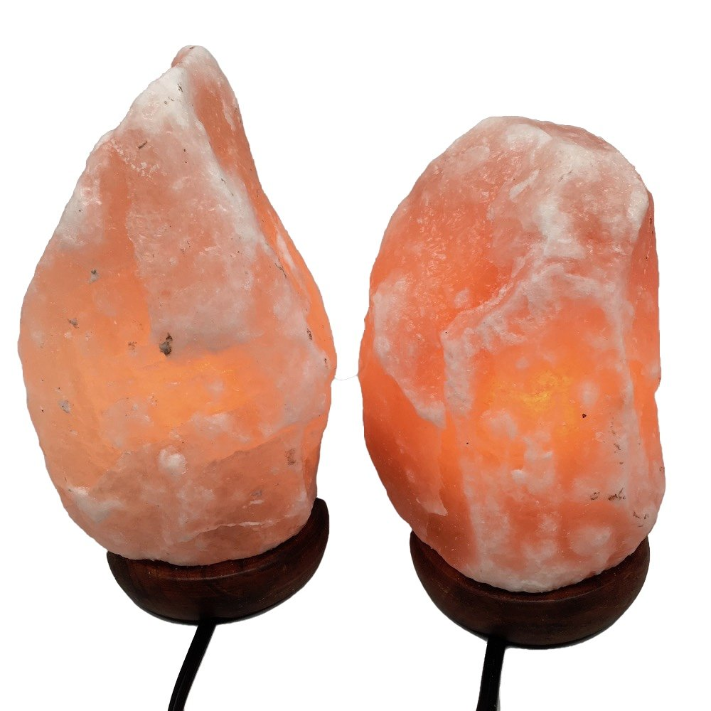 2x Himalaya Natural Handcraft Rough Raw Crystal Salt Lamp 7.5''-8.25''Tall, X096, Exact Item will be Delivered