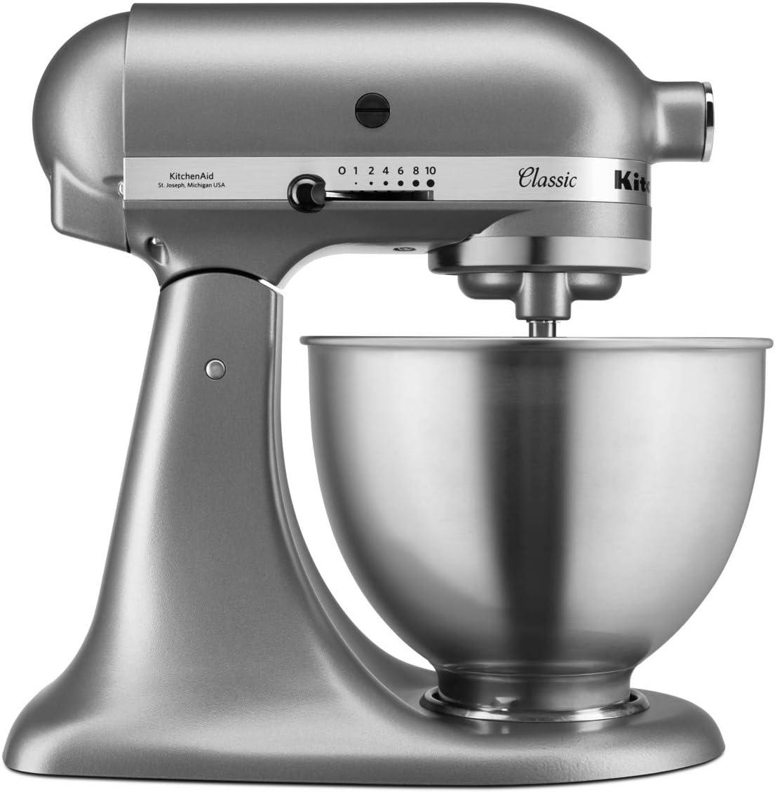 KitchenAid 5K45SSESL - Robot de cocina (zinc fundido a presión), color plateado