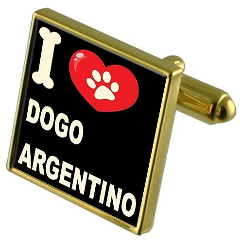 Select Gifts Me encanta mi perro Gold-Tone gemelos & Money Clip - O Argentino