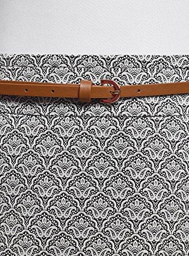 2912o Collection Droite Femme Jupe avec oodji Gris Ceinture Aq0SUF