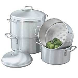 Vollrath 68123 Wear-Ever Rice / Vegetable Steamer Set, 5 Quart