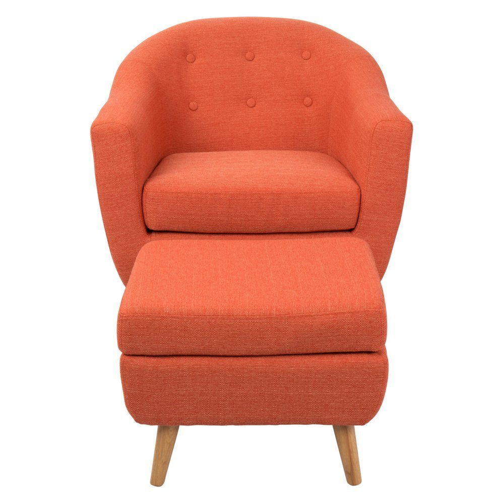 Merveilleux Amazon.com: Lumisource Rockwell Chair With Ottoman, Orange: Kitchen U0026 Dining