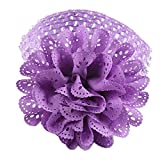 AUEYE®Baby Girls Lace Headband Chiffon Flower Headband Infant Hair Weave Band Kids Hair Accessories -Purple