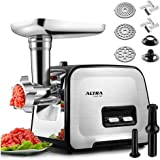Powerful ALTRA Electric Food Meat Grinder, Heavy Duty Multifunction Meat Mincer Sausage Stuffer with Sausage Tube & Kubbe Mak