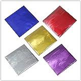 500 envoltorios de papel de aluminio de 5 colores para caramelos de chocolate papel de regalo cuadrados dulces papel de regal
