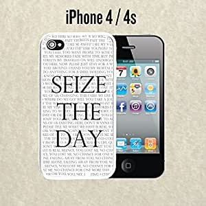 iPhone Case Seize The Day for iPhone 4 /4s Plastic White (Ships from CA)