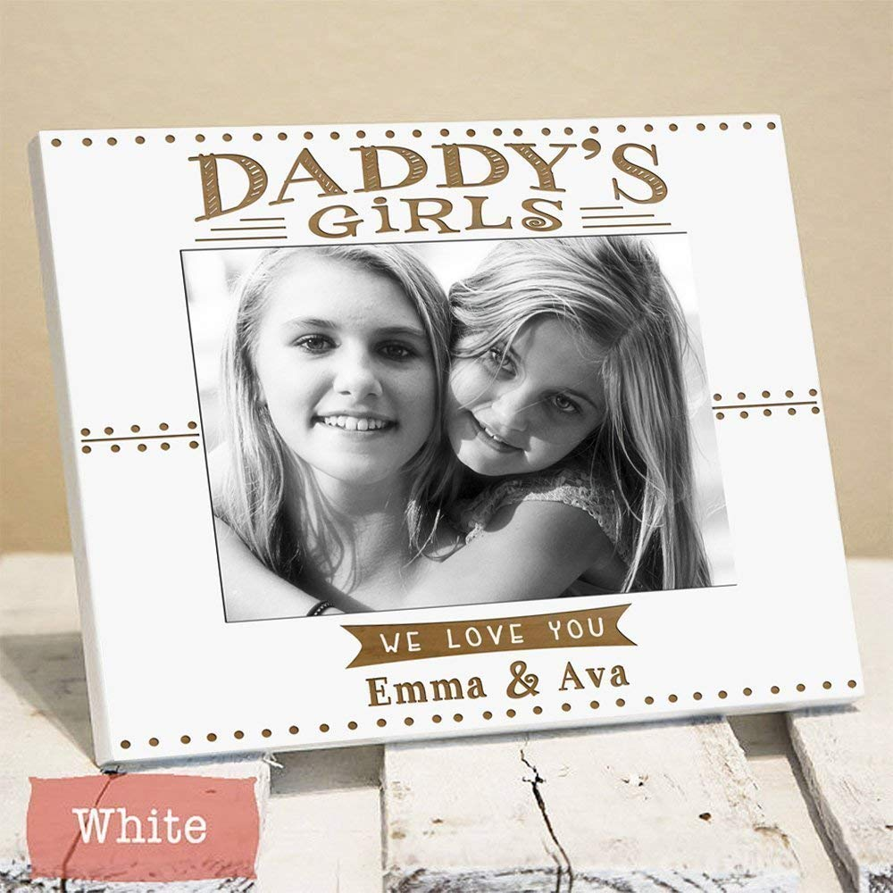 Personalized Daddy's Girls Picture Frame - Dad Gift From Daughters - Fathers Day Gift - Fathers Day Gifts for Dad