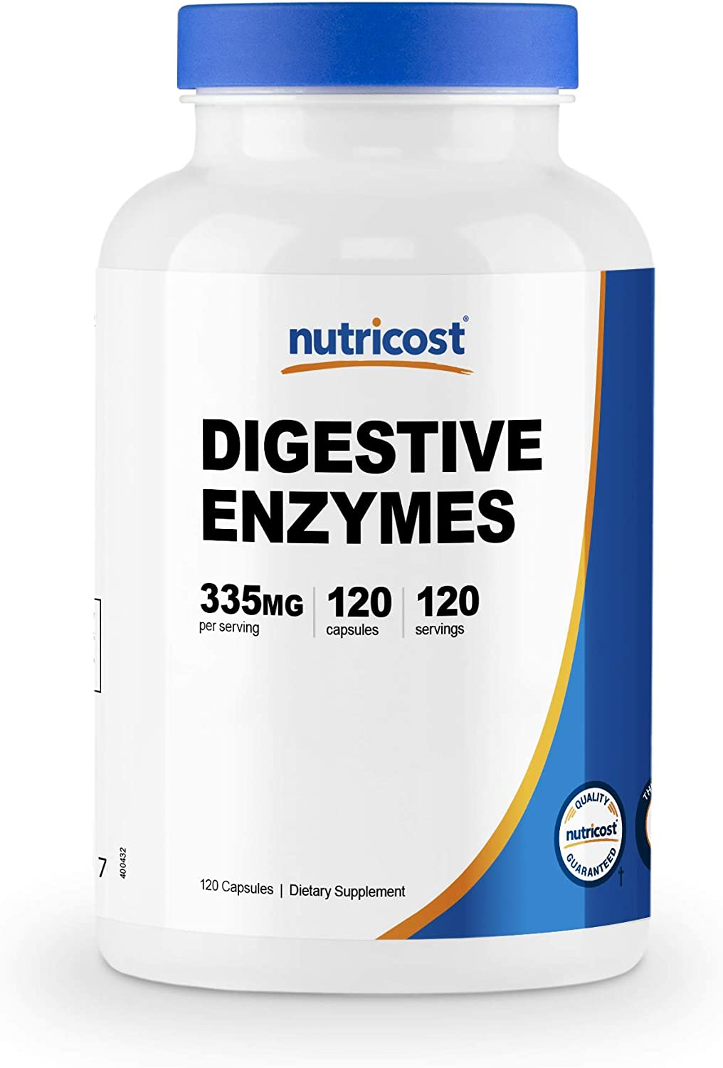 Nutricost Digestive Enzymes 335mg, 120 Veggie Capsules - Complete Digestive Enzyme Supplement