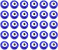 FENICAL 100pcsEyeball Beads Evil Eye Bead Charms Pendants Crafting Plastic Beads for Jewelry Making Accessories (Blue)