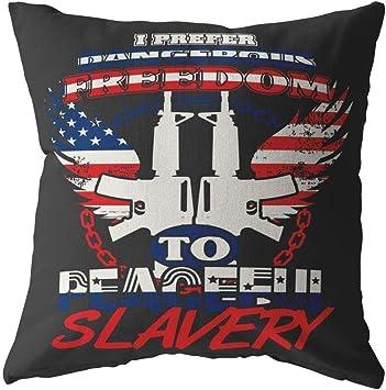 Amazon.com: ODDITEES Gun Rights Pillows I Prefer Dangerous ...
