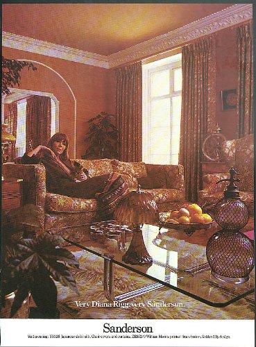 very-diana-rigg-very-sanderson-wall-upholstery-fabrics-ad-1975