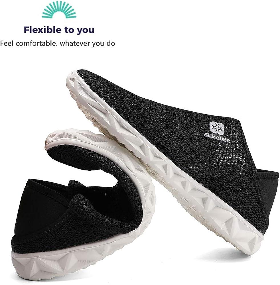 aleader da Uomo Donna Traspirante Estate Scarpe Mocassini Slip on Flat Loafers Leggero Multifunzionale per Giardino Spiaggia Acqua Indoor Pantofole