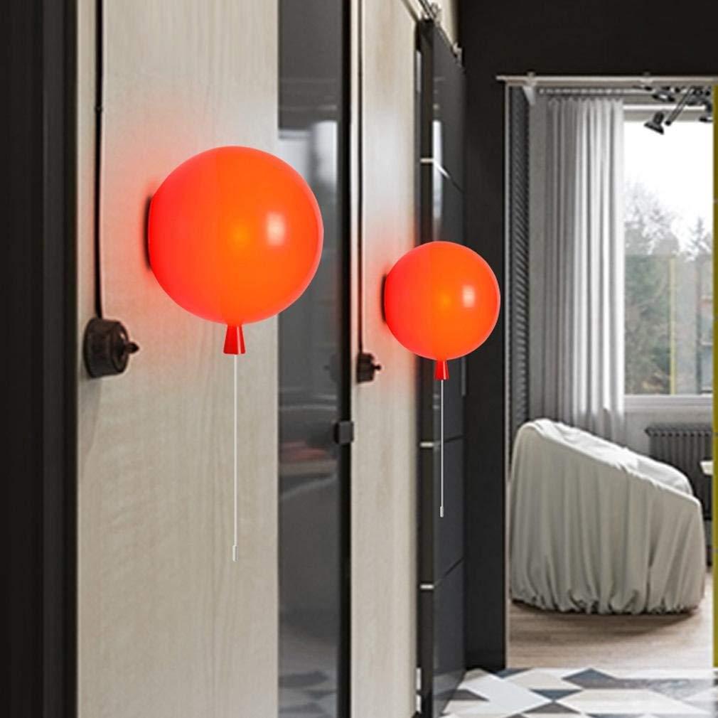 ● Moderne Ballon-Design-Wandleuchte Acryl Metall Kreative Wandleuchte Wohnzimmer Schlafzimmer Küche Lounge Korridor Dekoration Innenbeleuchtung Runde Kunst Elegante Wandbeleuchtung E27 Max.60W, Rot -Ø