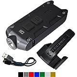 Nitecore TIP 2017 CRI Upgrade 240 Lumen USB Rechargeable Keychain Flashlight & LumenTac USB Charging Cable (Black)