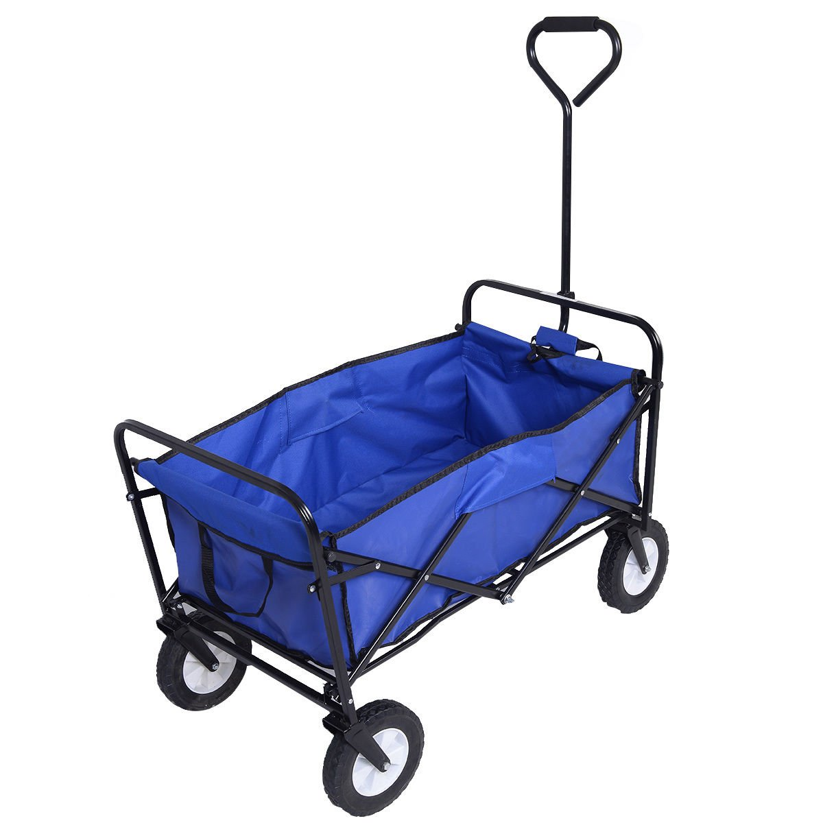 Amazon.com : Collapsible Folding Wagon Cart Garden Buggy Shopping Beach Toy  Sports Blue : Garden U0026 Outdoor