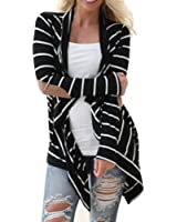 Cardigan Jacket,Morecome Women Casual Long Sleeve Striped Cardigans Patchwork Outwear