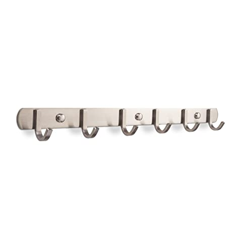 SO-Tech® Perchero de Pared con 6 Ganchos SAMU de Acero INOX Cepillado 460 mm