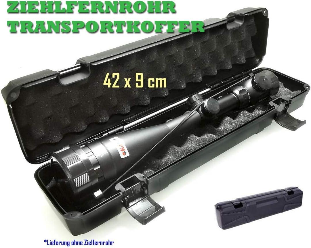Linsendurchmesser bis 56mm 42 x 9 cm KaSul Hardschalen Transportkoffer f/ür Zielfernrohre ca