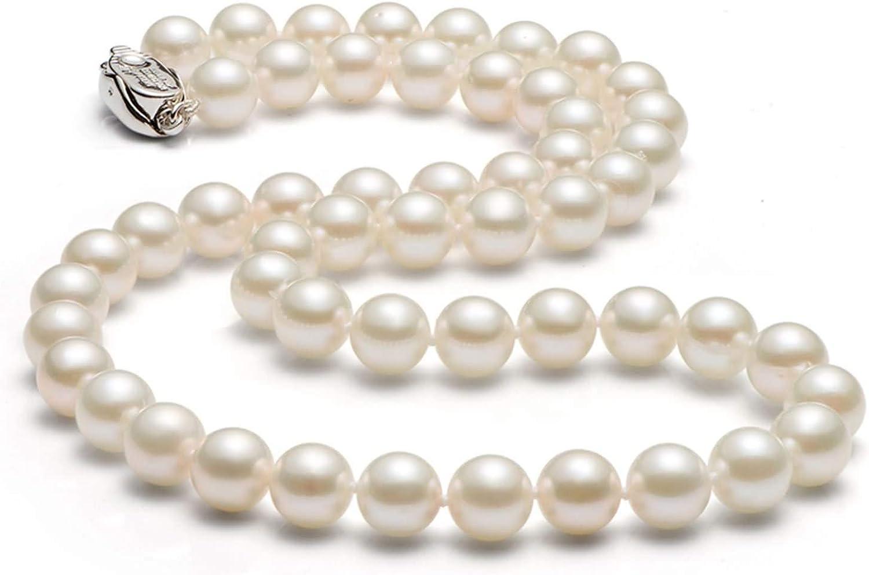 AnaZoz Collares Mujer Perlas Colgante Mujer Collar Mujer Perla Redonda Collar Colgante Mujer Longitud 40CM-50CM